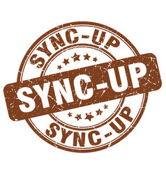 sync-up brown grunge stamp vector image