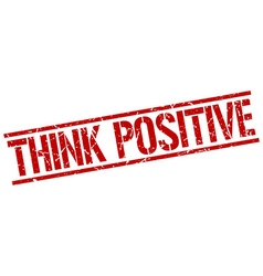 think positive stamp vector image