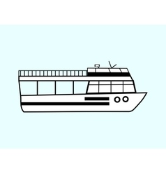 Tourist boat vector image vector image