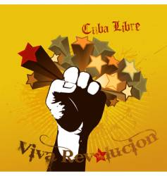 viva revolution vector image vector image