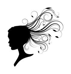 women had with curly hair vector image vector image
