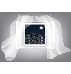 window at night vector image