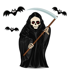 Grim reaper isolated for halloween vector