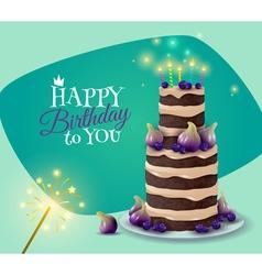 Birthday cake card vector