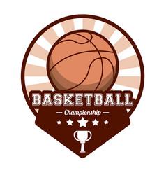 basketball sport championship stamp image vector image