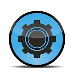 Blue button setting for your use vector