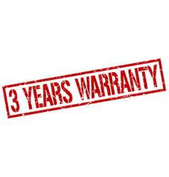 3 years warranty stamp vector