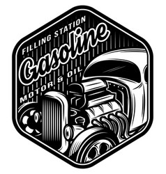 monochrome template for a filling station vector image