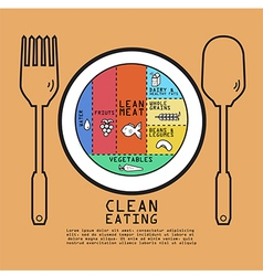 Clean eating volume design vector