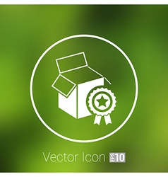Premium box packing design isolated icon vector
