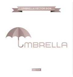 Logo umbrella the letter u in a pen icon vector