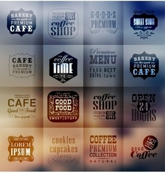 Retro bakery labels and typography vector