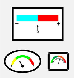 Set of indicators with colored spectral indicator vector