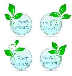 icons 100 natural vector image
