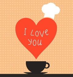 Cooking love2 vector image
