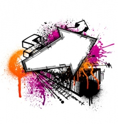 Graffiti arrow background vector