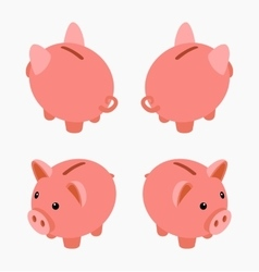 Isometric piggy bank vector