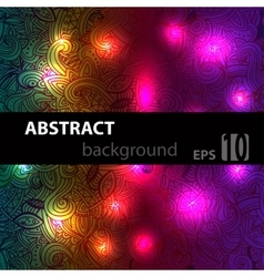 Abstract disco glowing doodle of background vector image vector image