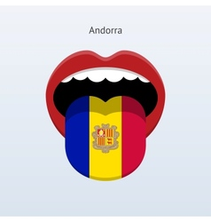 Andorra language abstract human tongue vector