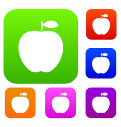 apple set color collection vector image