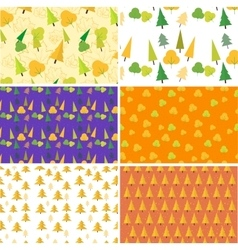 Autumn seamless pattern Set Flat design vector image vector image