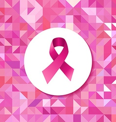 Breast cancer campaign ribbon hipster pattern vector image