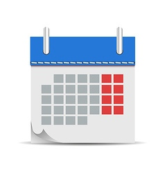 Calendar in flat icon vector image