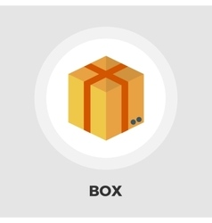 Cartoon Box flat icon vector image