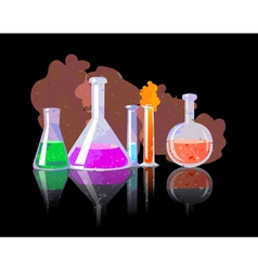 Chemical tubes with colorful liquids vector