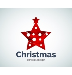 Christmas or New Year star decoration logo vector image