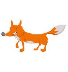 cute cartoon fox animal character vector image vector image