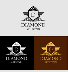 diamond mountain logo vector image