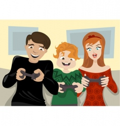 family fun vector image vector image