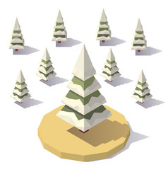 fir tree in the snow vector image