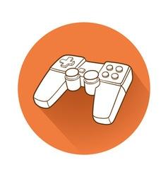 Gamepad symbol vector image vector image