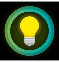 green eco energy bulb concept vector image vector image