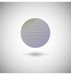 Halftone color sphere vector image vector image