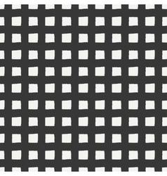 Hand drawn geometric seamless ink pattern Grunge vector image
