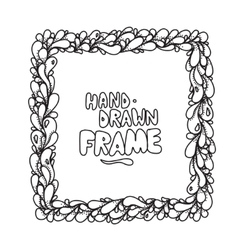 Hand drawn square frame design vector image