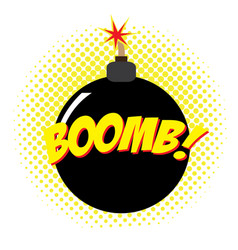 isolated comic bomb vector image