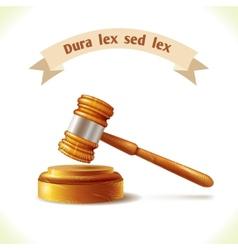 Law icon judge gavel vector image