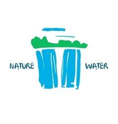 Logo for fresh water company hand drawn vector