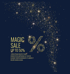 magic sale sparkling vector image vector image