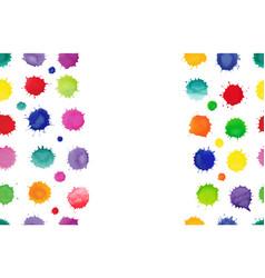 Multicolored watercolor splash background vector