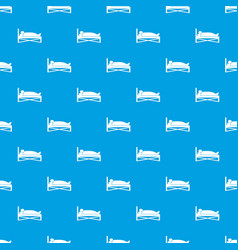 patient in bed in hospital pattern seamless blue vector image vector image