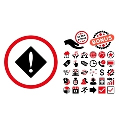 Problem Flat Icon with Bonus vector image
