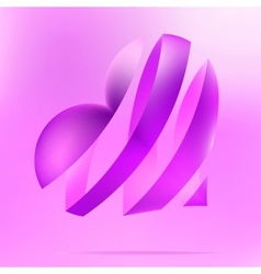 Purple heart on a light background EPS8 vector image vector image