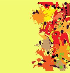 Red orange maroon ink splashes background copy vector