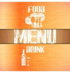 restaurant menu with corners uno vector image