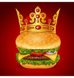 Royal hamburger vector